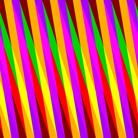 Abstract seamless pink orange yellow green red oblique irregular striped pattern