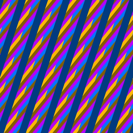 Abstract blue red yellow seamless oblique irregular striped pattern