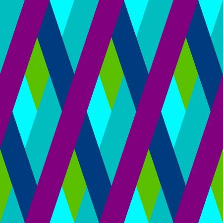 Abstract seamless purple blue green oblique irregular striped pattern