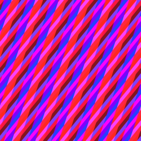 Abstract seamless pink red blue oblique irregular striped pattern