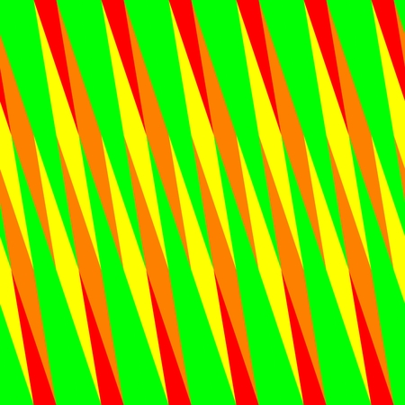 Abstract seamless red orange yellow green oblique irregular striped pattern