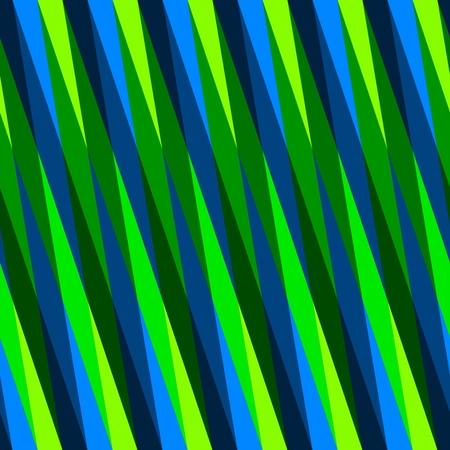 Abstract seamless oblique blue green irregular striped pattern