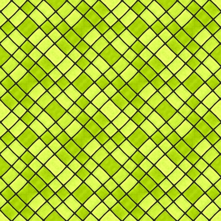 Abstract decorative diagonally yellow gray mosaic pattern composed of small angular tiles - digitally rendered graphic