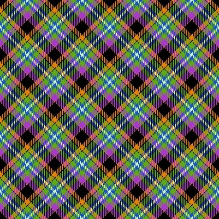 Abstract diagonally checkered tartan pattern. Digitally rendered background with textile texture usable for tapestry, rug, carpet, plaid, blanket, handkerchief, wallpaper, fabric or paper print.