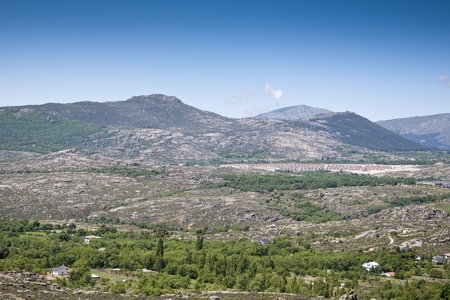 Urbanization at the foot of the mountain, Madrid, Spain