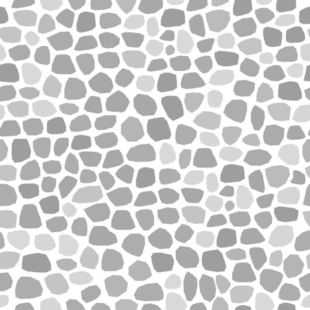 Seamlessly vector wallpaper with block-stone on white
