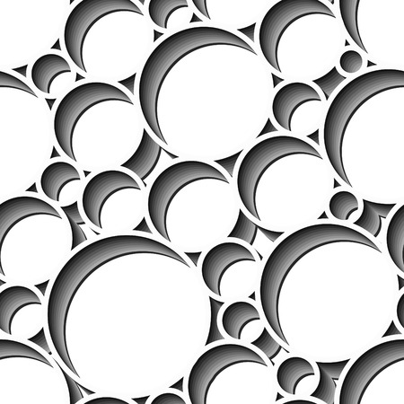 Retro black and white seamless circle backgroundのイラスト素材