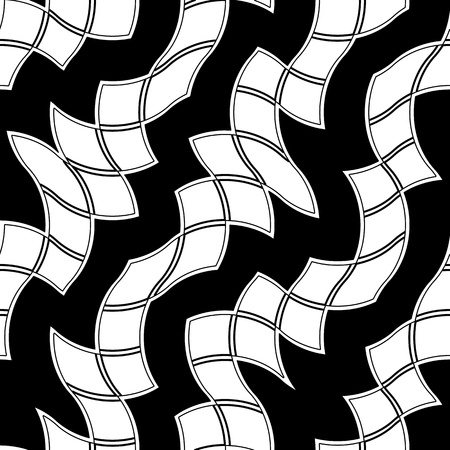 Seamless black and white abstract tile pattern