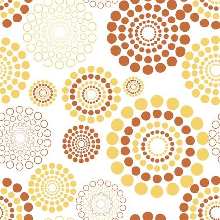 Illustration pour Seamless vector texture with circles - image libre de droit