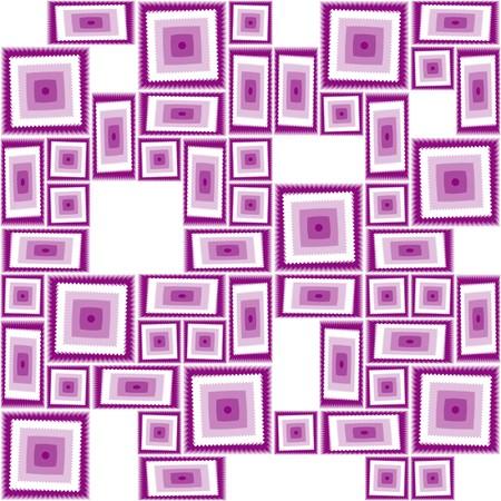 Illustration pour Seamless pattern with violet tiles - image libre de droit