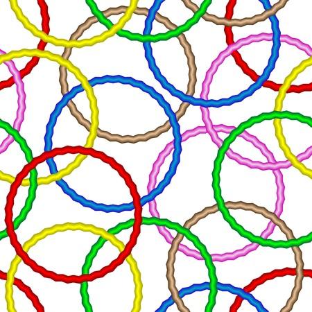 Illustration pour Seamless vector texture with 3d vivid rings - image libre de droit