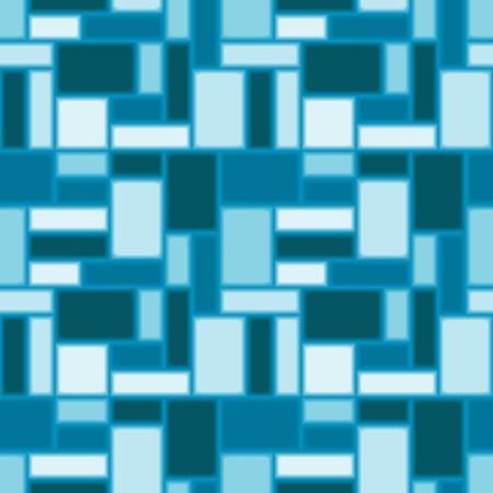 Illustration pour Seamless pattern with blue tiles - image libre de droit