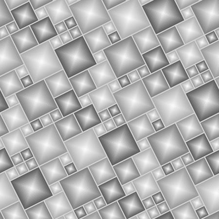 Illustration pour Brown tiles - seamless vector pattern - image libre de droit