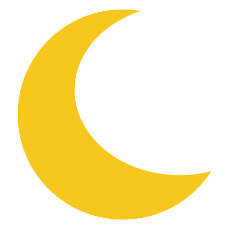 Illustration for Yellow Moon icon isolated on background. Modern flat pictogram, business, marketing, internet concept. Trendy Simple vector symbol for web site design or button to mobile app.  illustration - Royalty Free Image
