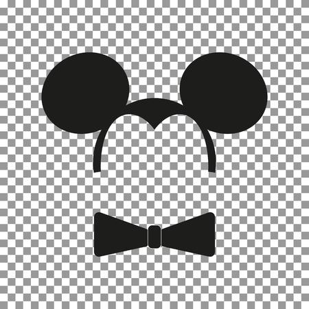 Illustration pour Mouse sticker vector - image libre de droit