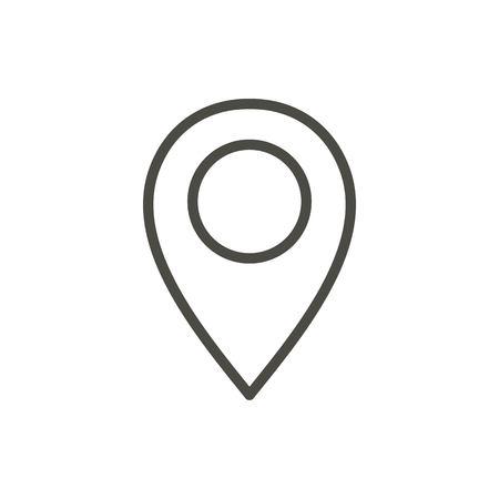 Illustration pour Pin map icon vector. Line location symbol. - image libre de droit