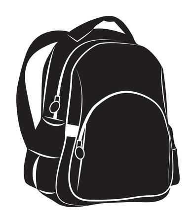 Illustration pour Backpack on white background - image libre de droit