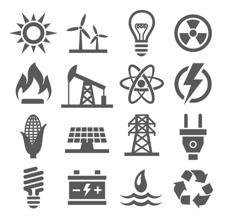 Illustration for Energy icons - Royalty Free Image