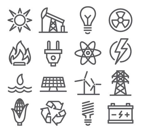 Illustration pour Energy line icons - image libre de droit