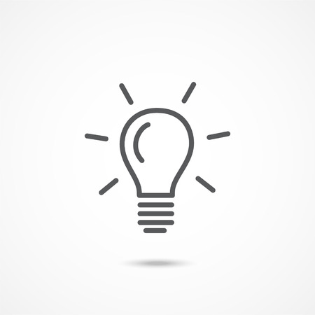 Illustration pour Gray Light bulb icon on white background - image libre de droit