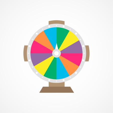 Wheel Of Fortune. Illustration on white background.