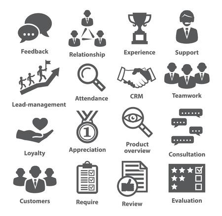 Illustration pour Business management icons on white. Pack 03. - image libre de droit