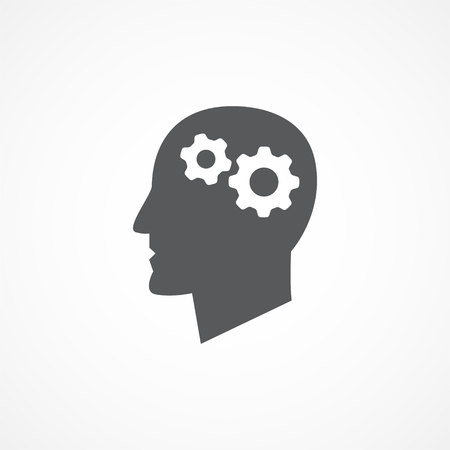 Illustration pour Gray Knowledge icon on white - image libre de droit