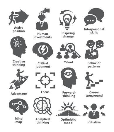 Illustration pour Business management icons on white. Pack 19. - image libre de droit