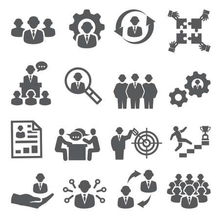 Illustration pour Employee icons Business and Management - image libre de droit