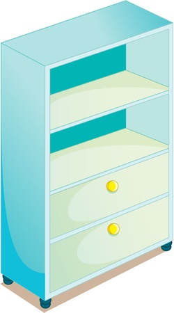illustration of cupboard on white