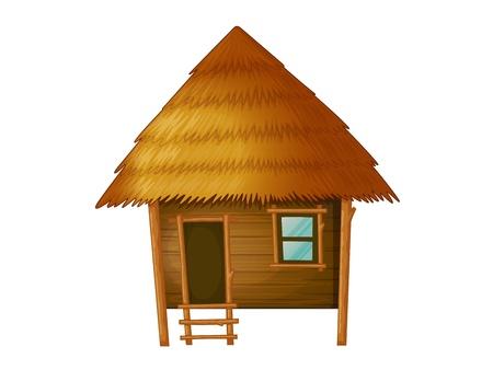 Illustration pour Illustration of a wooden hut - image libre de droit