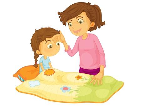Illustration pour Child illustration on a white background - image libre de droit