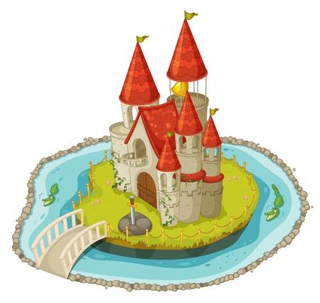 Illustration for Illustration of a cartoon castle - Royalty Free Image