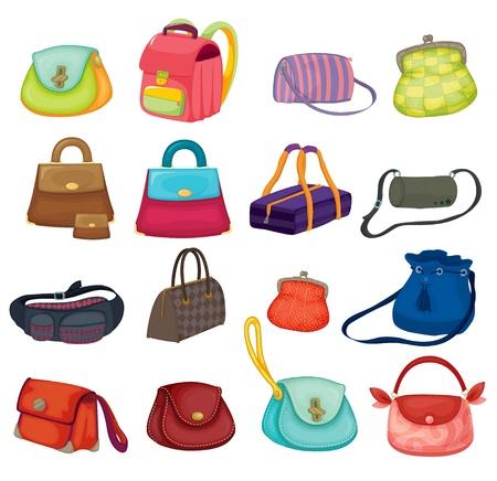 Illustration pour Illustration of assortment of bags - image libre de droit