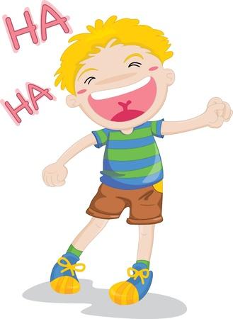 illustration of laughing boy