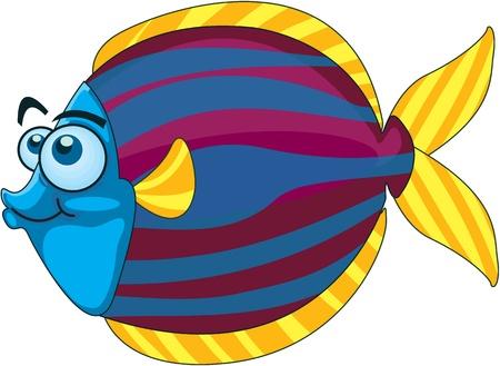 Illustration of  a cartoon fish on white