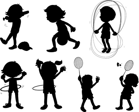 illustration of images of shadows of kids