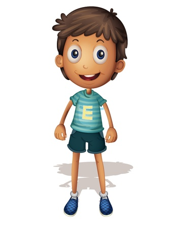 3D illustration of a boy on white background