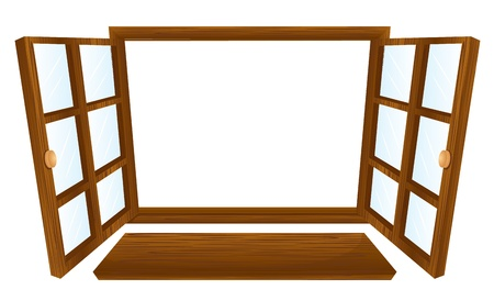 Illustration of double open windows