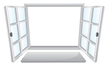 Illustration of double open windows