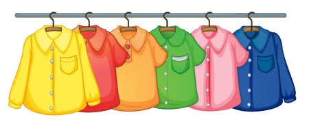 Illustration for Rack on clothes on white - Royalty Free Image