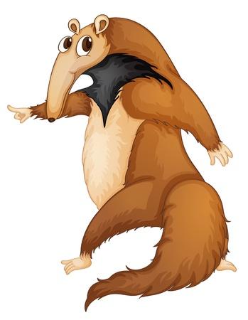 Illustration pour Illustration of a funny anteater - image libre de droit