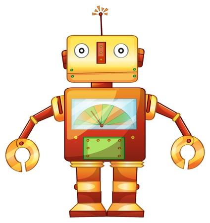 Illustration pour Illustration of a retro robot - image libre de droit