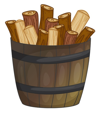 illustration of a barrel of wood
