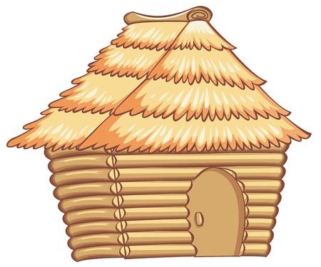 Illustration pour illustration of a light colorded hut - image libre de droit