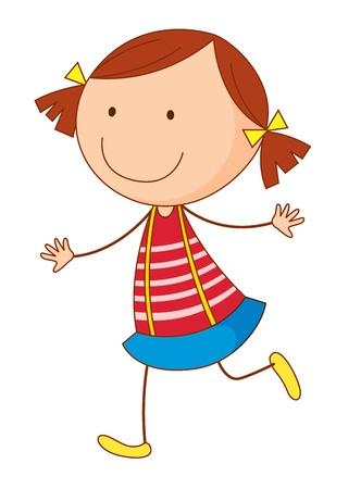 Cartoon of a cute little kid