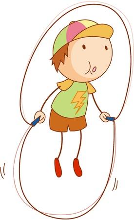 Cartoon of an active kid