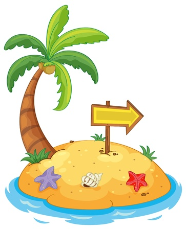 Illustration pour Illustration of an island paradise - image libre de droit
