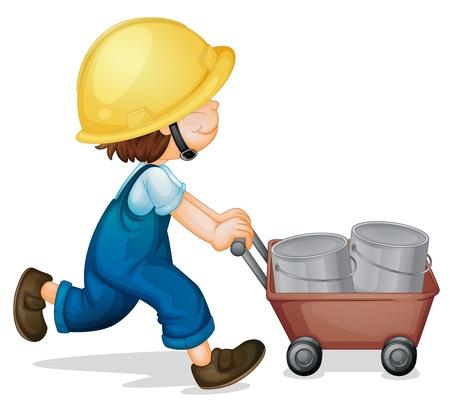 Illustration of a kid worker