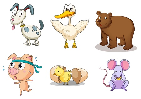 Photo for Illustration of collection of animals - Royalty Free Image